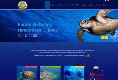 Création de site pour Centre Plongée à la Réunion