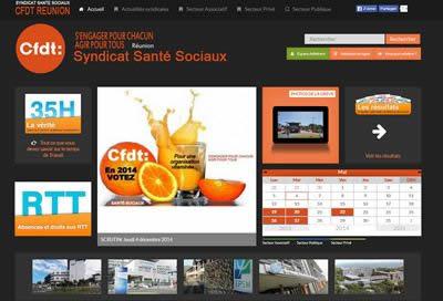 Création de site pour Syndicat CFDT Santé