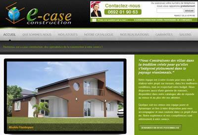 Création de site pour Constructeur à la Réunion