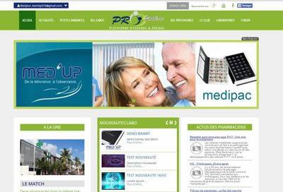 Création de site pour la Santé & Laboratoires