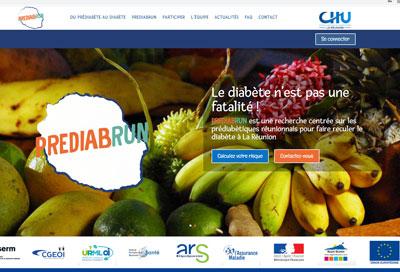 Création de site pour le CHU à la Réunion