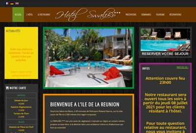 Création de site de réservation à la Réunion